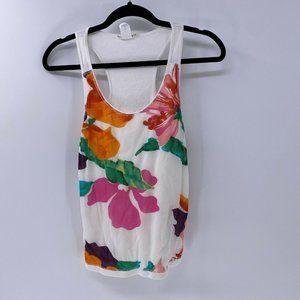 Vivienne Tam white floral tank top sz L Large